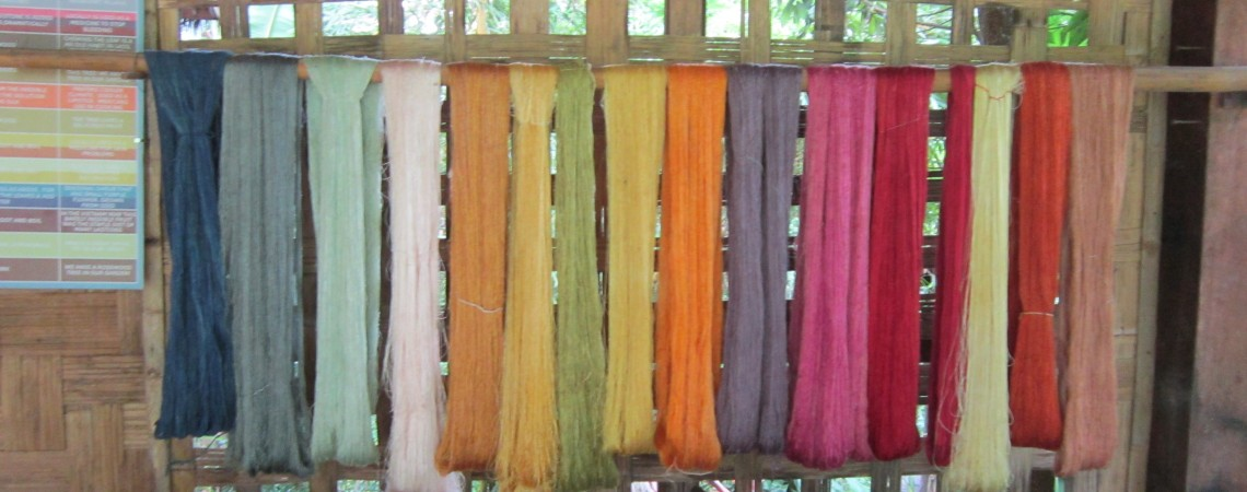 Silk Dying in Laos